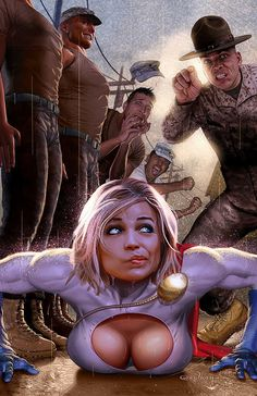 Boot camp Powergirl/ Knock em down-bust em with--well, just bust em out---haha
