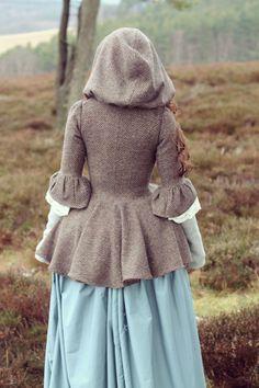 Custom Made 18th century Brown wool Bodice / door Rachaelscostumes