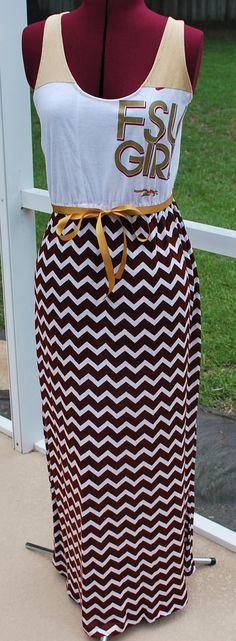 FSU Chevron Maxi Dress!! FSU Girl
