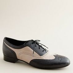 Women's shoes - oxfords & mocs - Camden two-tone brogues - J ...  paint my oxfords 2 tone!