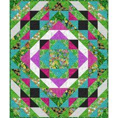 Wilmington Prints Tropical Flair Colorful Paradise Throw Quilt Kit