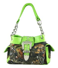 camo purse!!! and my fav color lime green perfect purse !!! <3