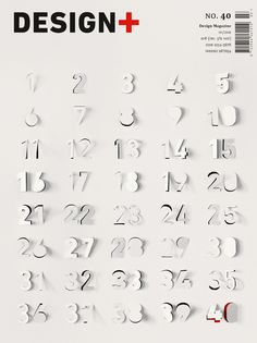 Design Plus cover based on minimalistic Advent calendar