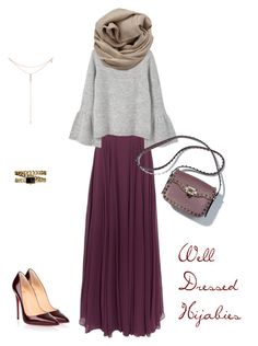 """""""Untitled #281"""" by rbelrhazi on Polyvore featuring Halston Heritage, MANGO, Tacori, Brunello Cucinelli, Christian Louboutin and Chanel #hijab #hijabies #hootd #ootd #outfit"""
