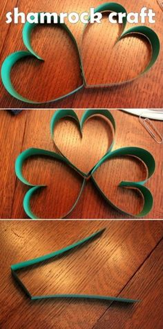 Shamrocks for St. Patrick's Day.