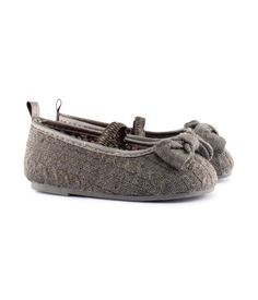Loving these baby wool cableknit mary janes from H