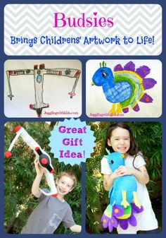 Budsies brought my childrens' artwork to life! Come see how my childrens' drawings were turned into adorable stuffed animals. These will make wonderful presents that your children will always love and treasure.
