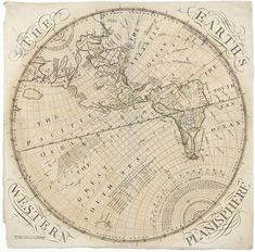 Planisphere map of the western hemisphere from 1759