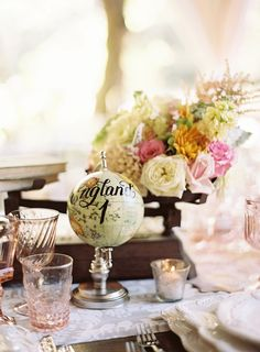 wedding reception table number idea; photo: Braedon Flynn Photography