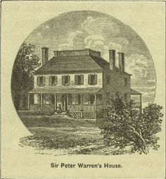 Sir Peter Warren's Mansion, early 1800s. Present day Bleeker, W 4th, Charles and Perry Streets