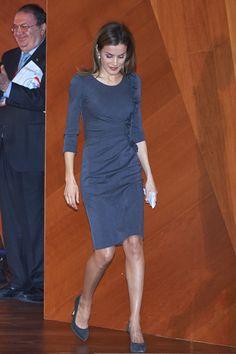 ru_royalty: Королева Испании на открытии Международного симпозиума по раку кожи