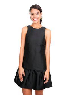black-silk-duchess-drop-waist-dress