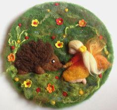 Wollbild ~ Filzbild ~ Wandbild ~ Märchenwolle Bild von Jana's kleine Filzwelt auf DaWanda.com