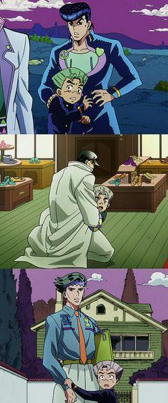 Josuke, Jotaro, Rohan, Koichi