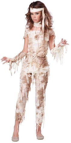 Make this out of leggings, t shirt, and fabric strips