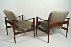 Fredrik Kayser Model 711 Rosewood Lounge Chairs 1960's image 4