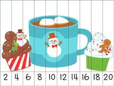 Christmas Skip Counting Puzzles. $ -Repinned by Totetude.com