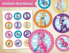 MY LITTLE PONY Equestria Girls  Instant download 2 by MagicalParty, $4.99 .... order these