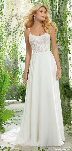 c4528bcee0a Voyage by Madeline Gardner Spring 2019 Wedding Dresses. A Line Bridal  GownsBridal ...