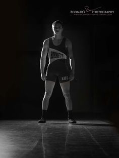 Senior Guy Wrestler Pose