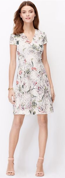 When you're wearing this dress, there's no way you won't be happy. Box pleats and eyelet add extra detail and texture. This is the ultimate spring dress. You'll be so glad to make it yours.