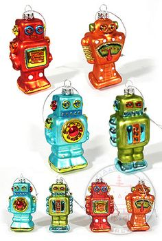 Robot Christmas Ornaments from Gump. | Christmas Ideas | Pinterest ...