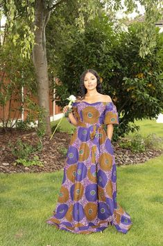 Anissa African Print Maxi Dress African Maxi Dresses, Ankara Gowns, Long Dresses, African Women, African Fashion, African Beauty, Wedding Dress With Pockets, Dress Pockets, Latest African Styles