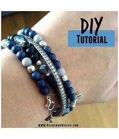 Blauwe wikkelarmband DIY Tutorial - Armbandjes maken - Ketting- Online Kralen Kopen | Beads & Basics