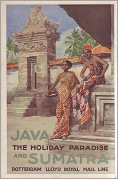 Java & Sumatra, Rotterdam Lloyd Royal Mail Line Vintage Stamps, Vintage Ads, Old Poster, Indonesian Art, Old Advertisements, Advertising, Tourism Poster, East Indies, Mystery Of History