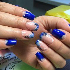 Ombre Nail Designs, Diy Nail Designs, Cute Toe Nails, Diy Nails, Green Nails, Blue Nails, Gorgeous Nails, Pretty Nails, Silver Nails