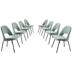 Eero Saarinen Set of Eight Reupholstered Dining Chairs for Knoll International 1