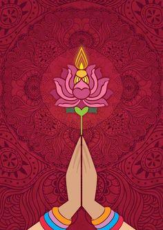 self initiated poster design for diwali - Laura Rankin - Hotel Buddha Kunst, Buddha Art, Buddha Logo, Yoga Kunst, Yoga Studio Design, Poster Design, Yoga Art, Tantra, Yoga Meditation