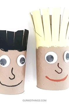 Give Dad a Haircut Scissor Practice Paper Roll Crafts, Paper Crafts For Kids, Craft Activities For Kids, Preschool Crafts, Diy For Kids, Preschool Art Projects, Quick And Easy Crafts, Easy Arts And Crafts, Fathersday Crafts
