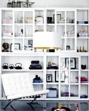 wall of shelves.. i want one.