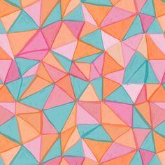 watercolor triangles Art Print