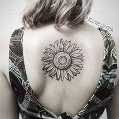 Center Back Sunflower tattoo