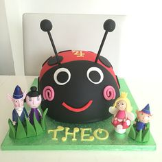 Gaston from Ben and Holly's little kingdom cake Ben And Holly Cake, Ben Y Holly, Ladybug Cakes, Owl Cakes, 4th Birthday, Birthday Cakes, Birthday Ideas, Cake Cookies, Cupcakes