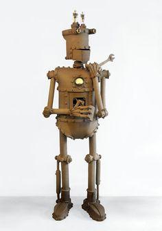 Milliamp - Robots - Gallery - John Brickels, Architectural Sculpture and Claymobiles, Essex Jct, Vermont