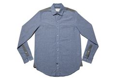 Stylish Kollar Cliff Shirt great for the winter months. Winter Months, Cliff, Chambray, Blue Grey, Mens Fashion, Shirt Dress, Stylish, Clothing, Mens Tops