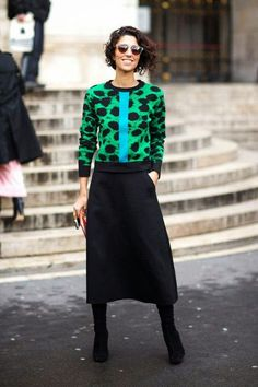 Street style, Yasmin Sewell - Love the skirt