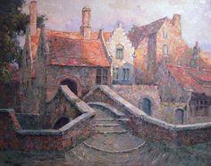 Charles Verbrugghe Brugge 1877 - Paris 1974 `Pont St Boniface a Bruges`
