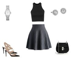"""""""55 outfit"""" by bangitj1234 ❤ liked on Polyvore featuring Valentino, Burberry, Blue Nile, Topshop, Chicwish and Chloé"""