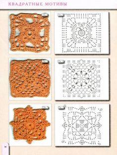 Afbeeldingsresultaat voor схемы вязания крючком мотивов