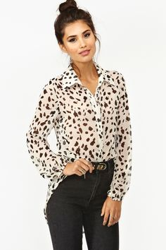 Animal Print Blouse <3
