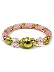 Beading Kits and Tools - Pink on Pink Bead Crochet Bracelet Kit. Would be a great cancer awareness bracelet!