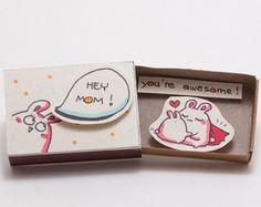 Süße I miss you Card Matchbox / Geschenkbox / Alarmbox von shop3xu