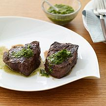 Beef Tenderloin with Fresh Herb Sauce