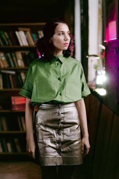 Leather Skirt, Skirts, Summer, Fashion, Moda, Leather Skirts, Summer Time, Fashion Styles, Skirt