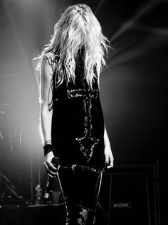 I imagine this is a lot of what Alex would do on stage before her takes a break and goes to college to hide his identityFC: Taylor Momsen - The Pretty Reckless