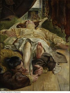 "Jacek Malczewski, ""Death of Ellenai"", 1906-1907, oil on canvas, 145x116 cm, private collection"